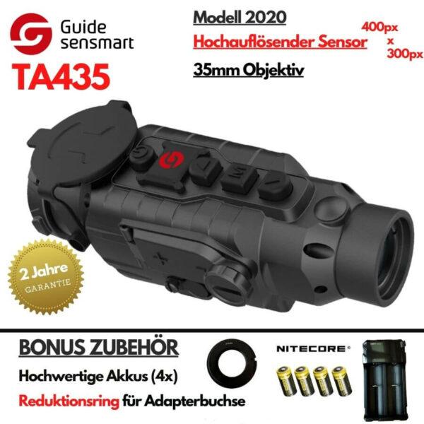 Guide TA435 Wärmebildvorsatzgerät