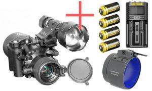 Electrooptic Nivex 2 NVD 256 Nachtsichtgerät | IR-Strahler, Rusan Adapter & Akkus