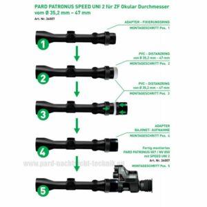 PARD PATRONUS SPEED UNI 3 ADAPTER / Universal Adapter 35,2- 47 mm