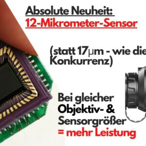 12 Mikrometer Sensor des E6+