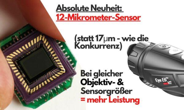 Sensor des neuen E6 Pro