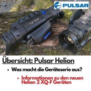 Pulsar Helion Wärmebildgeräte zur Jagd auf Baumstamm